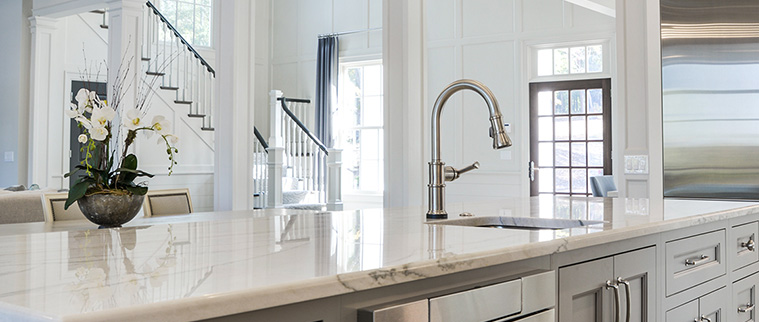 Classic with faucet and marble counters